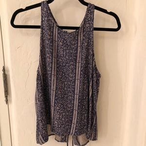 American Eagle lace up tank